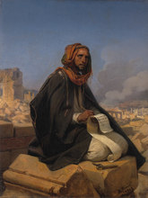 Jeremiah on the ruins of Jerusalem