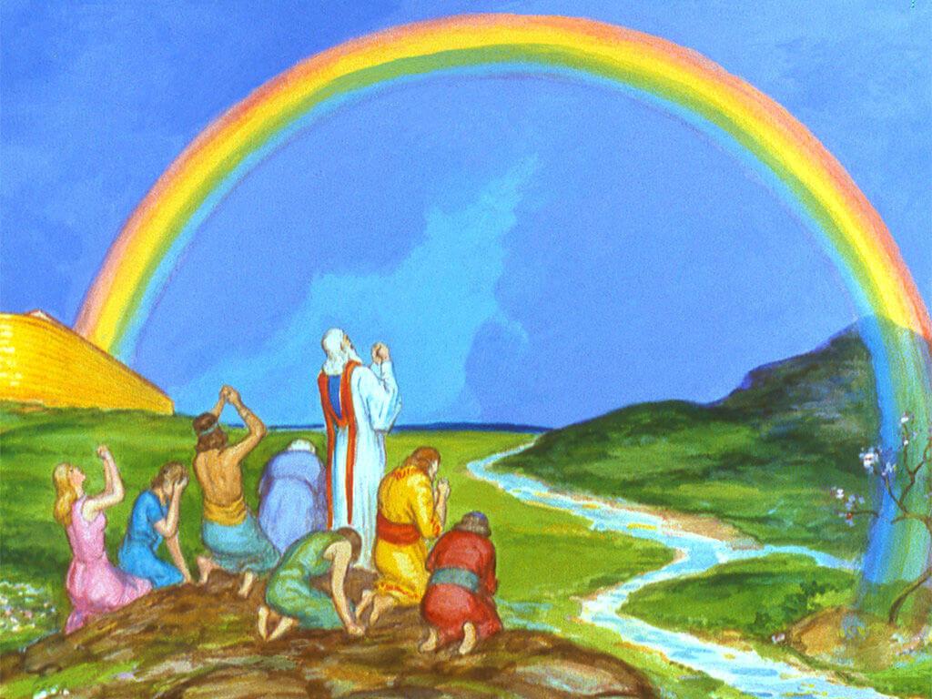 Bible covenants: Noah sees a rainbow