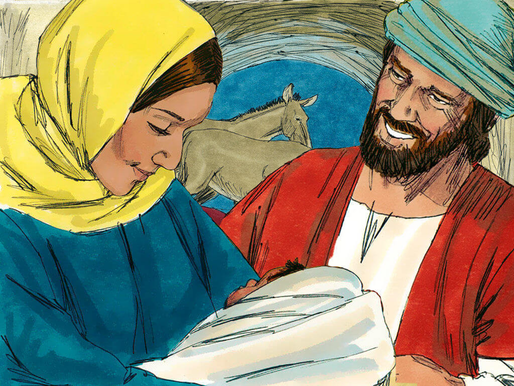 Birth of Jesus (http://freebibleimages.org/illustrations/christmas-jesus-birth/ Slide 15)